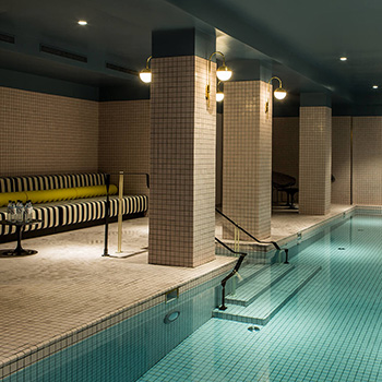 Swimming pool at Hotel du Rond Point des Champs Elysees in Paris