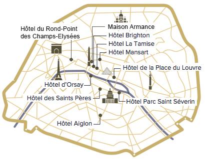 Hotel du Rond Point des Champs Elysées